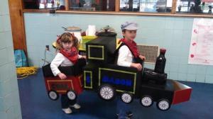 The Mason Family locomotive and coal car...
