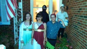 Well-costumed group...