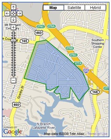 Suburban Acres boundary