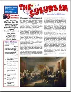 Community Newsletter - Suburban Acres - July 2011