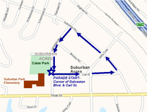 Suburban Acres Civic League Parade Route