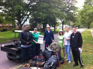 Great American Clean-up 2012...Suburban Acres earned 5 points toward our EARNN (Environmental Awards for Recycling in Norfolk Neighborhoods) total by participating in the national cleanup event on Saturday April 28th. Neighbors removed trash from wetland borders along East Kenmore Drive.
