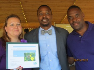 (From left to right) Jennifer Hewett,Norfolk Vice Mayor Anthony Burfoot, and Tony Coppock at the 2012 KNB Environmental Action Awards.