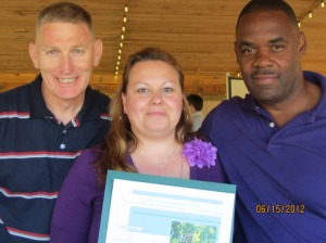 (From left to right) Steve Collins, Jennifer Hewett, and Tony Coppock at the 2012 Keep Norfolk Beautiful Environmental Action Awards.