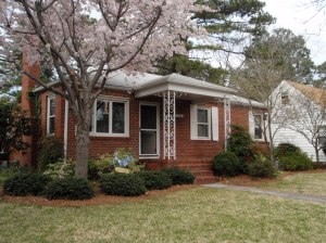 March 2009 - Congratulations to Mike King for his beautiful landscaping and wonderful curb appeal at 208 Forsythe Street. Flora, Yard of the Month Mermaid, will live among the foliage of the King flowerbed for the month of March. Thank you, Mike, for helping to make Suburban Acres a beautiful neighborhood!