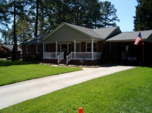 April Yard of the Month honors went to Ann and Steve Kennedy at 471 Suburban Parkway.