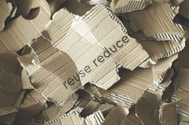 photo of pile of ripped carton